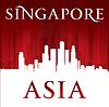 Asien Singapur-Stadt-Skyline-Silhouette rot