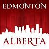 Edmonton Alberta Kanada Skyline Silhouette