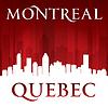 Montreal Quebec Kanada Skyline der Stadt-Silhouette rot