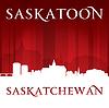 Saskatoon Saskatchewan Kanada Skyline der Stadt