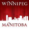 Winnipeg Manitoba Kanada Skyline Silhouette Wieder