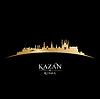 Kazan Russland Skyline der Stadt Silhouette schwarz