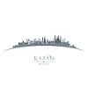 Kazan Russland Skyline der Stadt Silhouette weiß