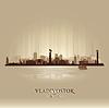 블라디보스토크 러시아 스카이 라인 도시 실루엣 | Stock Vector Graphics