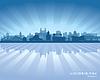 Novosibirsk Russland Skyline der Stadt Silhouette | Stock Vektrografik