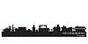 Novosibirsk Russland Skyline der Stadt Detaillierte Silhouette