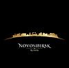 Novosibirsk Russland Skyline der Stadt Silhouette schwarz