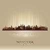 Novosibirsk Russland Skyline der Stadt Silhouette
