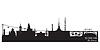 Soczi Rosja Szczegółowe sylwetka panoramę miasta | Stock Vector Graphics