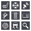 Icons für Web-Design Set 39