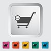 Cart flach einzelnes Symbol