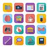 Flache Icons für Web-Design