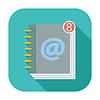 Kontakt Buchen einzelnes Symbol