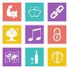 Farbe Icons für Web-Design-Set 48