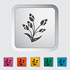ID 4373152 | Tulip single flat icon | Klipart wektorowy | KLIPARTO