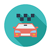 Vector clipart: Icon taxi