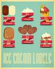 Ice Cream Labels Set