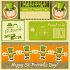Patricks Day Retro-Karte