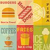 Retro-Fast-Food-Poster Sammlung