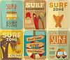 Surfen Poster Sammlung