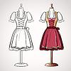 Dirndl-Kleid auf maneqiun