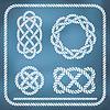Dekorative Seil Knoten