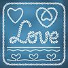 ID 4363827 | Herzform Seil Knoten Set | Illustration mit hoher Auflösung | CLIPARTO