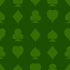 Nahtlose Muster mit Spielkarten Anzüge