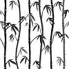 Векторный клипарт: Бесшовные фон с стебли бамбука