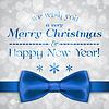 Векторный клипарт: С Рождеством Христовым открытку с луком и боке