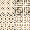 Векторный клипарт: бесшовные модели плитки - геометрические