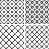 Векторный клипарт: бесшовные модели плитки - геометрические цветы