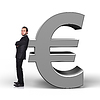 Biznesmen i euro | Stock Illustration