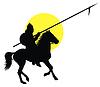 Vector clipart: Oriental horseman