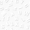 Векторный клипарт: бесшовные модели - образовательные буквы монохромный