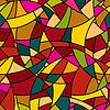 Векторный клипарт: бесшовные модели - абстрактного мозаика витражи