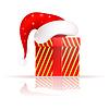 Weihnachtsmann-Hut auf den heutigen