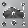 Abstrakte Infografiken Hintergrund mit metallischen Cloud