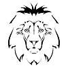 Lion Kopf. Tätowierung