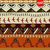 ID 4136295 | Nahtlose ethnische Muster mit ägyptischen Elementen | Stock Vektorgrafik | CLIPARTO