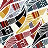 Patrón sin fisuras con hojas estilizadas | Ilustración vectorial