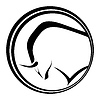Emblem mit schwarzen Silhouette der Stier