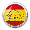 Silhouette der Stier in den nationalen spanischen Flagge