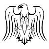 Silhouette der Adler Tattoo