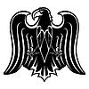 Schwarz Silhouette der Adler