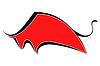 Silhouette von red bull