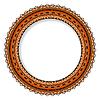 Geometrische dekorativen runden Rosette in der mexikanischen
