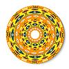 Geometrische dekorative runde Element in der mexikanischen