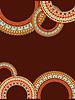 Abstrakt Hintergrund mit kreisförmigen geometrischen Muster