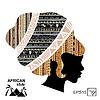Silhouette der Kopf einer afrikanischen Frau